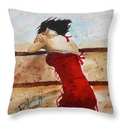 Red Dancer Throw Pillow