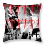 Red Dancers Throw Pillow
