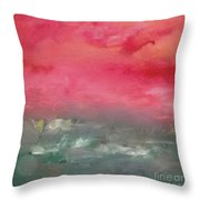Red Dawn Throw Pillow by KR Moehr