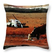 Red Day Throw Pillow