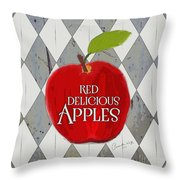 Red Delicious Apples Throw Pillow