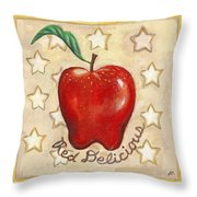 Red Delicious Two Throw Pillow