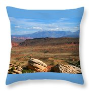 Red Desert With La Sal Mountains Throw Pillow