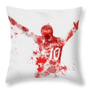 Red Devil Throw Pillow