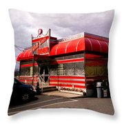 Red Diner Throw Pillow