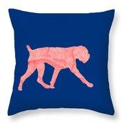 Red Dog Tee Throw Pillow
