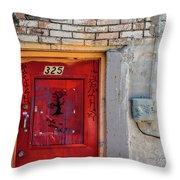 Red Door 325  Throw Pillow