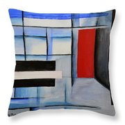 Red Door II Throw Pillow