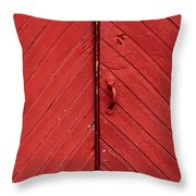 Red Door Throw Pillow