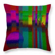Red Doors Throw Pillow