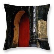Red Doorway Throw Pillow