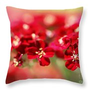 Red Dreams Throw Pillow