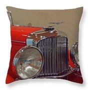 Red Duesenberg Beauty Throw Pillow