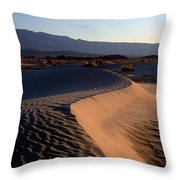 Red Dunes Throw Pillow