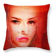 Red Dust Planet 6 Throw Pillow