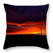 Red Eagle In The Clouds  Throw Pillow