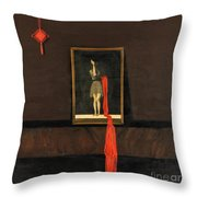 Red Echo Throw Pillow