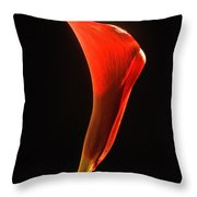 Red Essence Throw Pillow