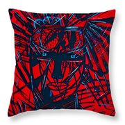 Red Exotica Throw Pillow