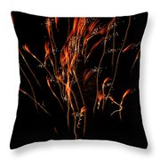 Red Explosion  Throw Pillow