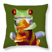 Red Eyed Delight Throw Pillow