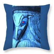 Red Eyed Raven Throw Pillow