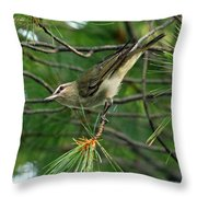 Red Eyed Vireo Throw Pillow