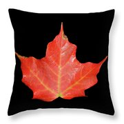 Red Fall Throw Pillow