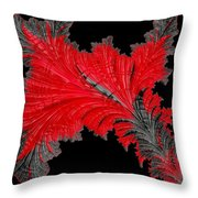 Red Feather - Abstract Throw Pillow