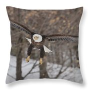 Red Feather Touchdown Throw Pillow