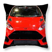 Red Fiesta Mk7.5 Throw Pillow