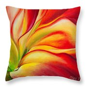Red Fire Throw Pillow