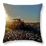 Red Fire Truck And The Sun Throw Pillow
