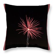Red Fireworks Throw Pillow