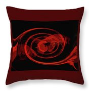 Red Fish Abstract Throw Pillow