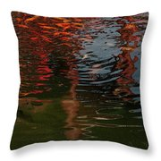 Red Fishes In A Pond Pictorial II Throw Pillow