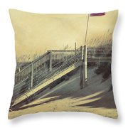 Red Flag Day Throw Pillow