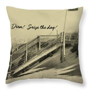Red Flag Day Quote Throw Pillow