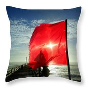 Red Flag Warning Sunrise 3 9/30 Throw Pillow