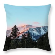 Red Flagging Throw Pillow