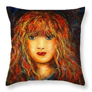 Red Flame Throw Pillow