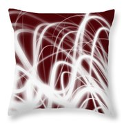 Red Flow2 Throw Pillow