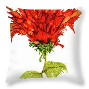 Red Flower 2 Throw Pillow