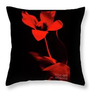 Love For Red Flower #1. Throw Pillow