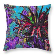 Red Flower In The Garden Throw Pillow