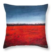 Red Flowering - Poppies Throw Pillow