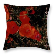 Red Flowers 6 Throw Pillow