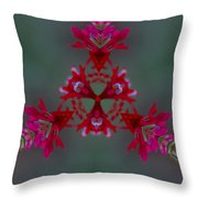 Red Flowers Abstract Throw Pillow