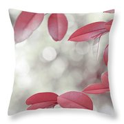 Red Foliage. Silver Light Throw Pillow
