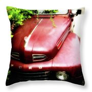 Red Ford Throw Pillow